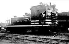 Northern Pacific (NP) Shop Loco #6  Black & White Print
