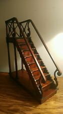 A STUNNING HIGHLY COLLECTIBLE MAHOGANY ARCHITECT'S MODEL OF A GEORGIAN STAIRCASE