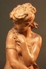 B 19è statue sculpture Mathurin Moreau terre cuite 8kg 67 cm Aphrodite Vénus TBE