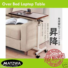 Rolling Table Over Bed Laptop Food Tray Hospital Desk With Tilting top New One