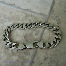 VINTAGE STERLING SILVER GENTS BRACELET WEIGHS 29.0g