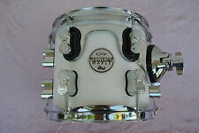 "ADD this 8"" PDP by DW X7 PEARLESCENT WHITE RACK TOM to YOUR DRUM SET! #C92"