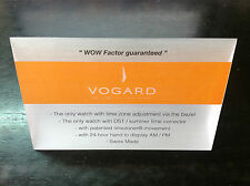 Placa Plaque VOGARD Official Dealer - WOW Factor guaranteed - watch montre reloj