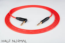"10' Canare L-4E6S Quad Balanced Cable Neutrik Gold 1/4"" 90 TRS to 1/4"" TRS Red"