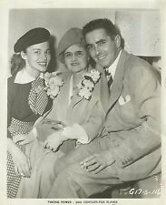 TYRONE POWER with his Mother PATIA and his Wife LINDA CHRISTIAN Original 1950's