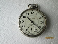 NEW HAVEN COMPENSATED Vintage Mech Winding Pocket Watch, Tested, Brass case