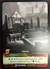 WORLD OF WARCRAFT WOW TCG RARE EXTENDED ART : ULDUM SKETCH CARD
