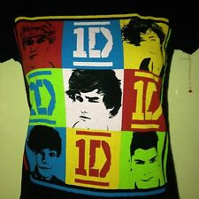 ONE DIRECTION 1D BAND LADIES FITTED SMALL T SHIRT POP OUT OF PRINT
