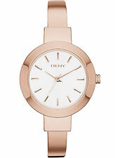 NEW DKNY NY2351 Women's Rose Gold-Tone Stainless Steel Watch