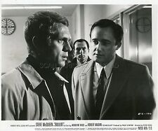 STEVE McQUEEN  ROBERT VAUGHN  BULLITT 1968 VINTAGE PHOTO ORIGINAL