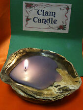 CANDLE CLAM TEA LIGHT  SHELL HOLDER