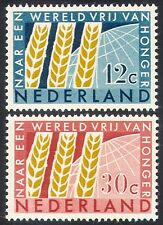 Netherlands 1963 FAO/FFH/Freedom From Hunger/Wheat/Crops/Plants 2v set (n40988)