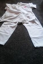 Karate suit white GI clothing. heavyweight fabric L