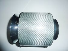 "Universal Silver Car Air Filter Carbon Fibre 3"" 76mm Performance Sports"