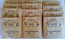 Schaff Roslau Piano Music Wire String Assortment Kit Set 12 1/3 Lb Coils Treble