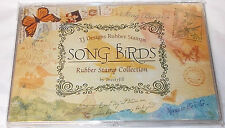 Tweety Jill TJ Designs Song Birds rubber stamp Collection set New words nature