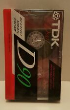 TDK D-90 High Output 90 Minute Blank Audio Cassette Tape NEW SEALED
