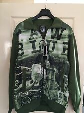 BNWT MENS RAW BLUE HIP HOP TRACKSUIT TOP ZIP UP NEWYORK