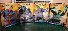 HOT WHEELS 2012 DC COMIC BATMAN, SUPERMAN, GREEN LANTERN, AND JOKER CAR LOT NEW!