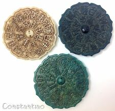 Valuable 3 Different Colors Chinese Jade Old Magic Mirrors Chinese Signs