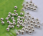 500Pcs 3mm silver plated metal round spacer beads DIY Findings