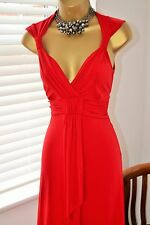 Gorgeous ⭐️ Morgan ⭐️ Red Grecian Dress Size L UK 14
