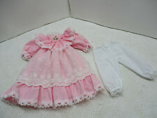 """NEW PINK/ COTTON Victorian Style Doll Dress FOR Vintage Antique / China 18"""" DOLL"""