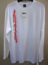 """SZ  L NEW WITH TAGS OAKLEY WHITE LONG SLEEVE TEE WHITE WITH LOGO 50"""" CHEST"""