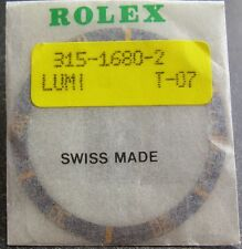ORIGINAL ROLEX SUBMARINER Old Style GOLD BLUE BEZEL INSERT GENUINE ROLEX 1680