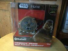 New  Disney Star Wars iHome Darth Chewbacca Bluetooth Speaker.  Li-B66C7.FX