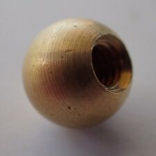 "BRASS BALL 3/8"" tap 8/32 DECORATION REPAIR LAMP PART HOBBY CLOCK FINIAL"
