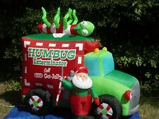 RARE  6-1/2' Gemmy Christmas Humbug Exterminator Lighted Airblown Inflatable