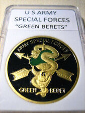 "U S ARMY Special Forces ""Green Berets"" Commemorative Challenge Coin"