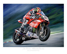 Josh Brookes Milwaukee Yamaha Limited Edition (50) Print by Steve Dunn