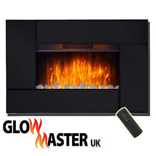 WALL MOUNTED ELECTRIC FIRE PLACE HEATER FLICKER FLAME EFFECT COMPACT DESIGN GLOW