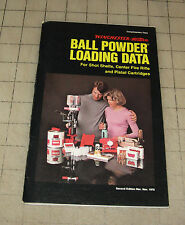 1976 Winchester Western BALL POWDER LOADING DATA GUIDE 2nd Edition