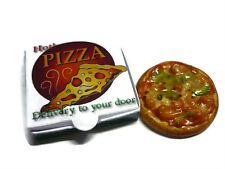 Pizza with Take Away Box Dollhouse Miniatures Fast Food Supply Deco -8