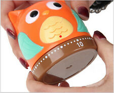Owl Kitchen Timer 60 Minute Cooking Mechanical Owlet Timer Bell Home Decoration