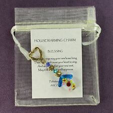 HOUSEWARMING CHARM Amulet Talisman New Home House Blessing Flower Heart Blue