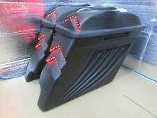 """Bagger 4"""" Stretched Extended Saddlebags Lid Touring Harley Softail 97-13 CUT OUT"""