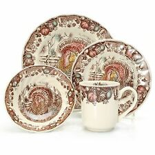 """Johnson Brothers """"His Majesty"""" 16-Piece Earthenware Dinnerware Set (s) NEW"""