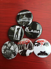 "1.25"" Boston Hardcore pin back button set of 6"