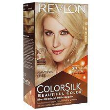 2 Pack Revlon ColorSilk Beautiful Permanent Hair Color (80) Light Ash Blonde