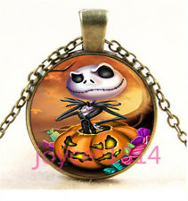 Nightmare Before Christmas Cabochon bronze Glass Chain Pendant Necklace TS-5755