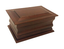 Superior Moulded Mahogany Cremation Ashes Casket (Wooden / Coffin / Urn / Adult)