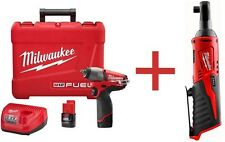 Milwaukee M12 FUEL 12-Volt Lithium-Ion Brushless 3/8 In. Cordless Impact Wrench