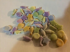 150 Sea Shell Beach Theme Acrylic Beads for Kids Craft Necklace Fish Horse Conch