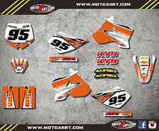 KTM 50 SX 2002 - 2008 Full  Custom Graphic  Kit - SHOCKWAVE - decals stickers
