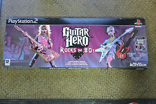 GUITAR HERO ROCKS THE 80S CON GUITARRA Y CAJA PLAYSTATION 2 PS2 (LEER)