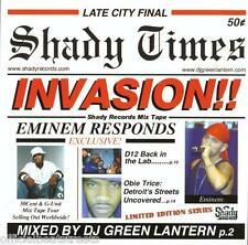 DJ Green Lantern Shady Invasion Eminem D-12 (Mix CD) Rare Mixtape CD